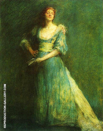 Comedia c 1892 Painting By Thomas Wilmer Dewing - Reproduction Gallery