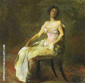 Harmony in Rose and Gray 1895 By Thomas Wilmer Dewing Replica Paintings on Canvas - Reproduction Gallery