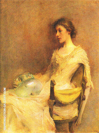 Reproduction of Portrait of a Lady 1898-99 by Thomas Wilmer Dewing | Oil Painting Replica On CanvasReproduction Gallery