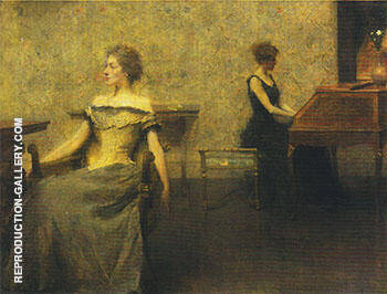 Brocart de Venise 1904 By Thomas Wilmer Dewing Replica Paintings on Canvas - Reproduction Gallery
