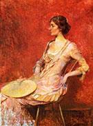 The Palm Leaf Fan c 1906 By Thomas Wilmer Dewing