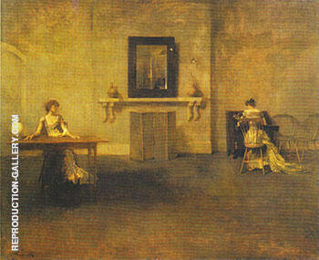 The Letter 1907 Painting By Thomas Wilmer Dewing - Reproduction Gallery