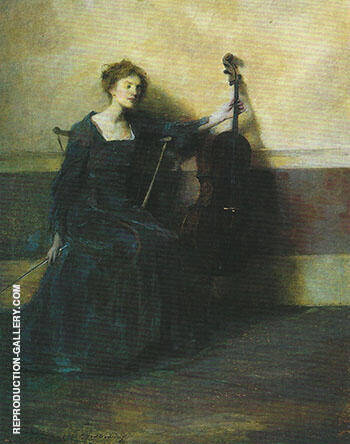 The Musician 1909 By Thomas Wilmer Dewing