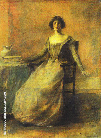 Pandora c 1914 By Thomas Wilmer Dewing - Oil Paintings & Art Reproductions - Reproduction Gallery
