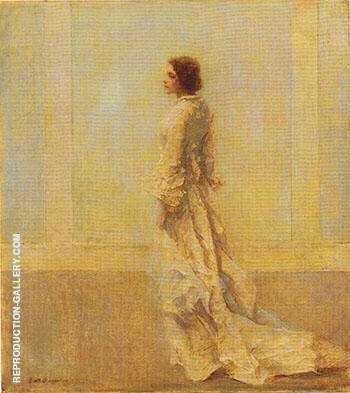 Reproduction of The Old Fashioned Gown c 1921 by Thomas Wilmer Dewing | Oil Painting Replica On CanvasReproduction Gallery