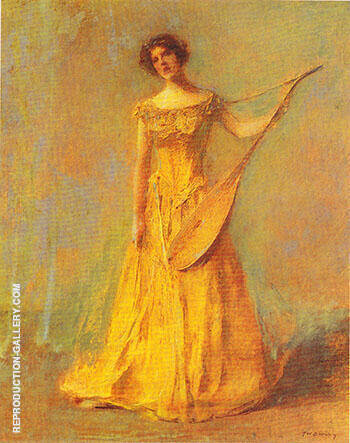 The Singer 1924 Painting By Thomas Wilmer Dewing - Reproduction Gallery