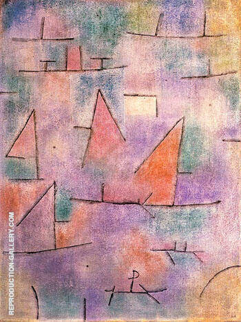 Harbour with Sailing Ships 1937 By Paul Klee