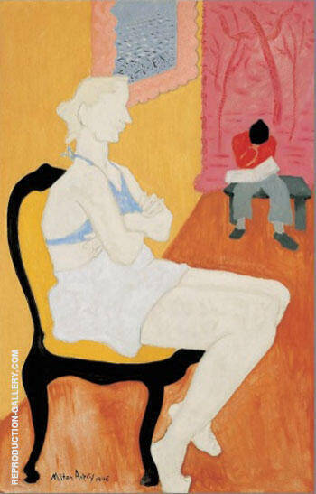 Seated Blonde By Milton Avery