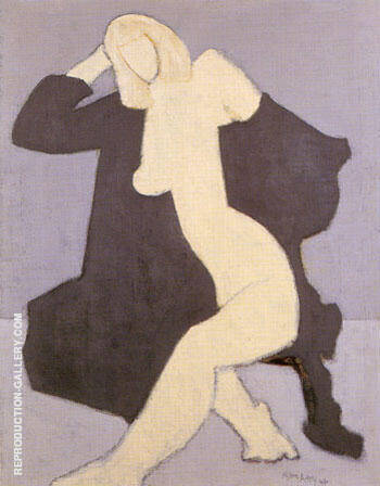 Nude In Black Robe By Milton Avery - Oil Paintings & Art Reproductions - Reproduction Gallery