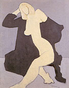 Nude In Black Robe By Milton Avery