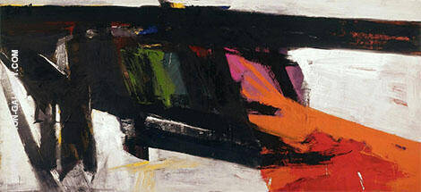 Black and Orange Wall By Franz Kline Replica Paintings on Canvas - Reproduction Gallery
