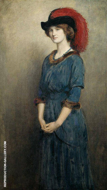 Angela McInnes later Thirkell 1914 By John Maler Collier