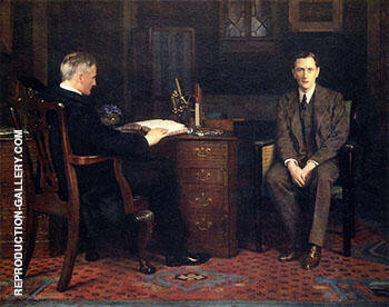 A Physician Telling a Patient that He Is Going to Die 1908 By John Maler Collier