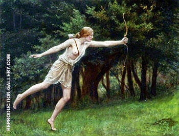 Artemis By John Maler Collier Replica Paintings on Canvas - Reproduction Gallery
