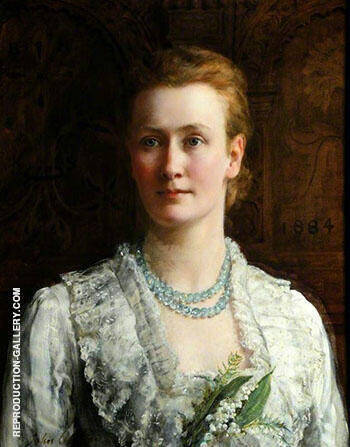 Blanche Parish Lady Shuttleworth 1884 By John Maler Collier