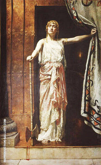 Clytemnestra 1882 By John Maler Collier - Oil Paintings & Art Reproductions - Reproduction Gallery