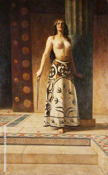 Clytemnestra 1914 By John Maler Collier Replica Paintings on Canvas - Reproduction Gallery