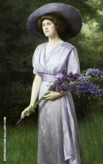 Doris Allan (1883-1962) Lady Vernon By John Maler Collier Replica Paintings on Canvas - Reproduction Gallery