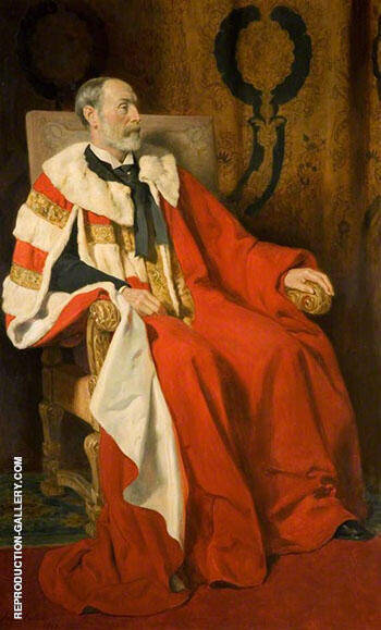 Edward George Percy Littleton By John Maler Collier Replica Paintings on Canvas - Reproduction Gallery
