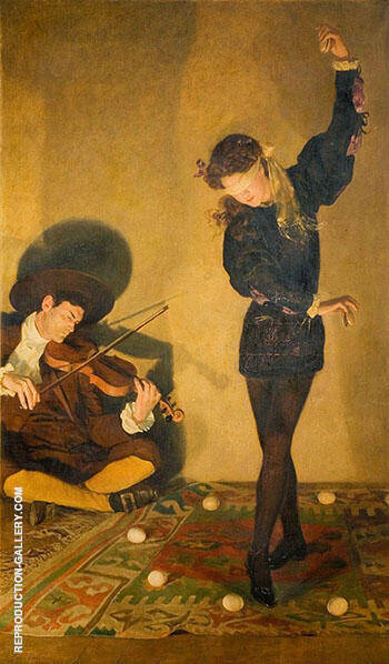 Egg Dance 1903 Painting By John Maler Collier - Reproduction Gallery