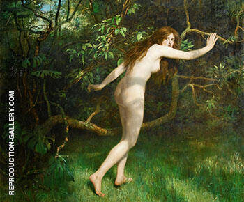 Eve 1911 By John Maler Collier Replica Paintings on Canvas - Reproduction Gallery