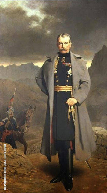 Field Marshal Earl Kitchener of Khartoum By John Maler Collier - Oil Paintings & Art Reproductions - Reproduction Gallery