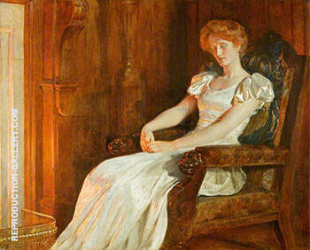 Firelight By John Maler Collier - Oil Paintings & Art Reproductions - Reproduction Gallery