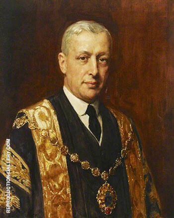 George Henry Heilbuth Mayor of Westminster 1926 By John Maler Collier Replica Paintings on Canvas - Reproduction Gallery