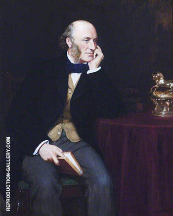 Reproduction of George John Vernon Warren 1803-1866, 5th Baron Vernon 1908 by John Maler Collier | Oil Painting Replica On CanvasReproduction Gallery