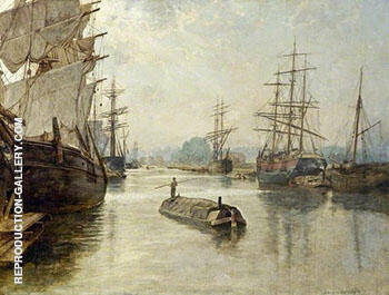 Gloucester Docks 1922 Painting By John Maler Collier