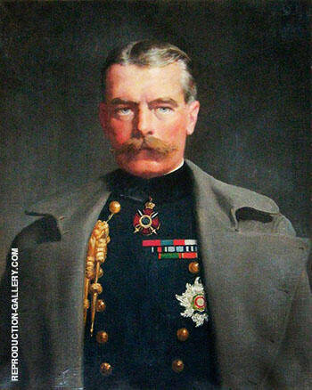 Horatio Herbert Kitchener 1910 Painting By John Maler Collier