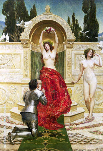 In the Venusberg Tannhauser 1901 By John Maler Collier - Oil Paintings & Art Reproductions - Reproduction Gallery