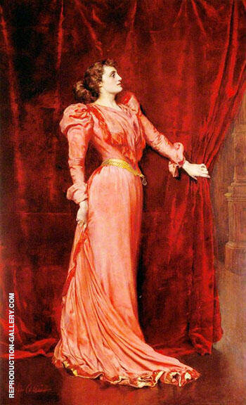 Julia Neilson Terry as Drusilla Ives in The Dancing Girl 1891 By John Maler Collier - Oil Paintings & Art Reproductions - Reproduction Gallery