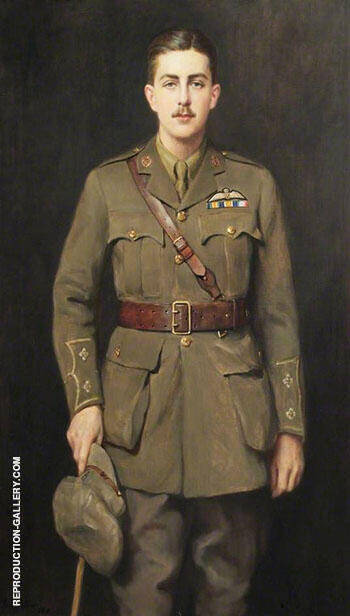 Lieutenant Evan Davies Jones Royal Flying Corps 1918 By John Maler Collier Replica Paintings on Canvas - Reproduction Gallery