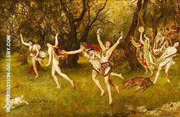 Maenads 1886 By John Maler Collier Replica Paintings on Canvas - Reproduction Gallery