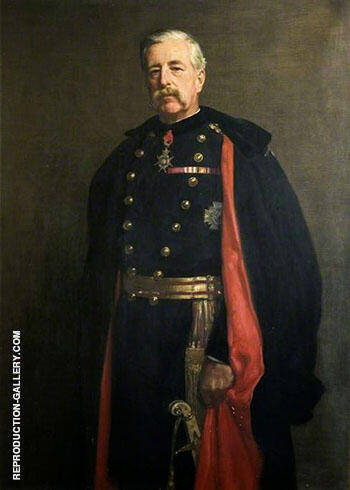 Major General M. W. E. Gossett 1906 By John Maler Collier - Oil Paintings & Art Reproductions - Reproduction Gallery