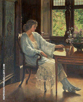 Meditation 1921 By John Maler Collier - Oil Paintings & Art Reproductions - Reproduction Gallery