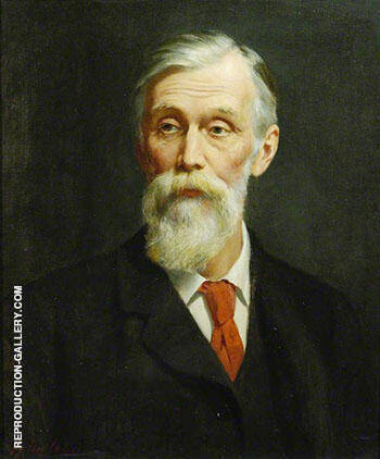 Michael Foster c 1908 By John Maler Collier - Oil Paintings & Art Reproductions - Reproduction Gallery