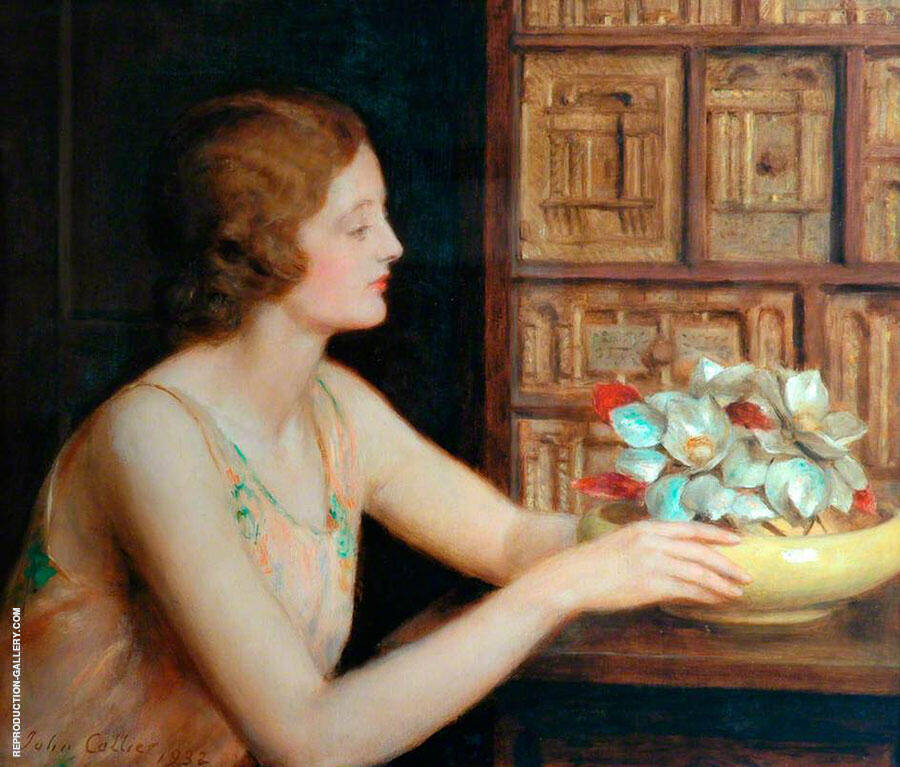 Mother of Pearl 1932 Painting By John Maler Collier - Reproduction Gallery