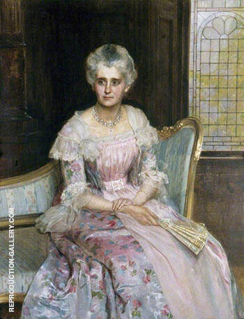 Mrs Griffiths By John Maler Collier Replica Paintings on Canvas - Reproduction Gallery