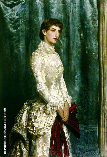 Mrs Harland Peck 1884 Painting By John Maler Collier
