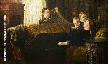 Mrs Mortimer Collier and Family 1880 By John Maler Collier Replica Paintings on Canvas - Reproduction Gallery