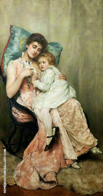 Nettie and Joyce 1890 By John Maler Collier - Oil Paintings & Art Reproductions - Reproduction Gallery