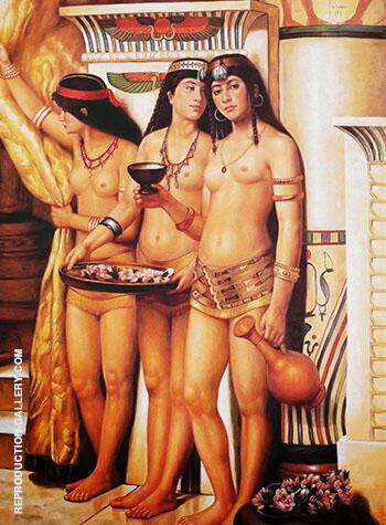 Pharaohs Handmaidens 1883 By John Maler Collier