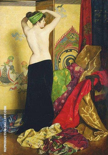 Reproduction of Pomps and Vanities by John Maler Collier | Oil Painting Replica On CanvasReproduction Gallery