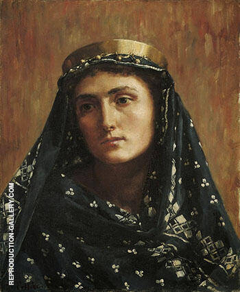 Portrait of a Lady in Eastern Dress By John Maler Collier - Oil Paintings & Art Reproductions - Reproduction Gallery