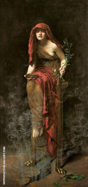 Priestess of Delphi 1891 Painting By John Maler Collier