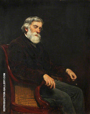 Professor Alexander W. Williamson 1887 Painting By John Maler Collier