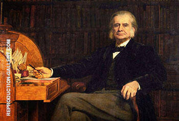 Reproduction of Professor Thomas Henry Huxley 1825-1895, FRS 1890 by John Maler Collier | Oil Painting Replica On CanvasReproduction Gallery