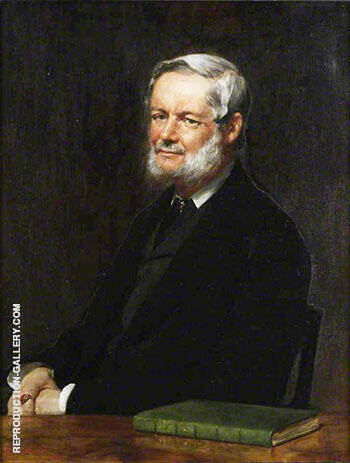 Richard Garnett 1899 By John Maler Collier Replica Paintings on Canvas - Reproduction Gallery